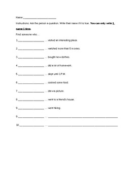 Welcome Back Activity Sheets