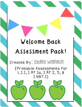 Welcome Back Assessment Pack!
