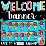 Welcome Back! Back to School Banner {Chalkboard, Chevron,