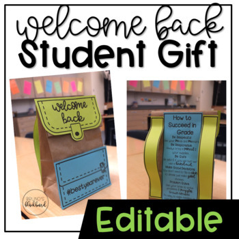 Welcome Back Backpack Gift
