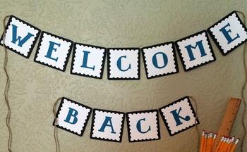 Welcome Back Banner {Hard Good}