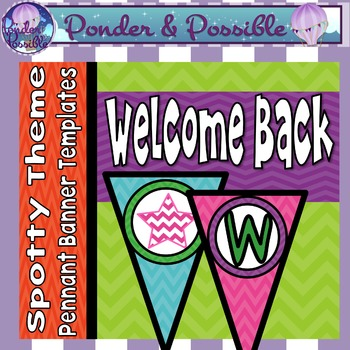 Welcome Back Bunting - Chevron Theme for Classroom Decor