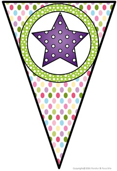 Welcome Back Bunting - Spotty Theme for Classroom Decor