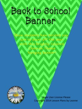 Welcome Back Banner (chevron theme)  Back To School