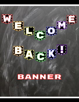 Welcome Back Banner for Back to School