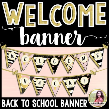 Welcome Back! Back to School Banner {Chic & Glam Pennant}