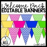 Welcome Back Banners Bright Clean Lines Design
