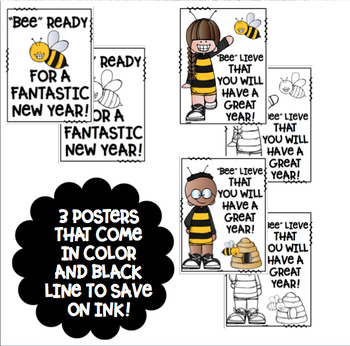 welcome back banners and posters bee theme