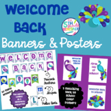 Welcome Back Banners and Posters Pretty Peacock Theme