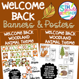 Welcome Back Banners and Posters Woodland Animal Theme