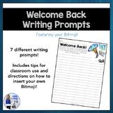 Welcome Back Bitmoji Writing Prompts