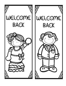 Welcome Back Bookmark - Hollywood
