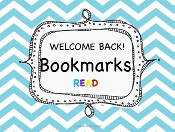 Welcome Back Bookmarks!