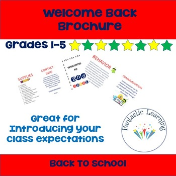 Welcome Back Brochure