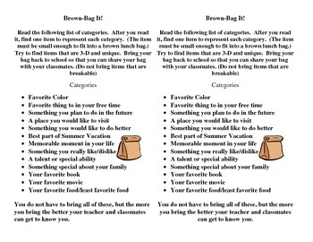 Welcome Back - Brown Bag It!