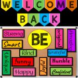 Welcome Back Bulletin Board (Editable) - Bulletin Board Letters & Numbers
