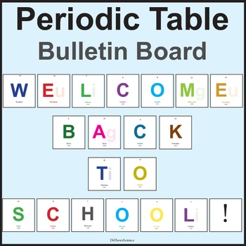 Periodic Table Welcome Back Bulletin Board, Science