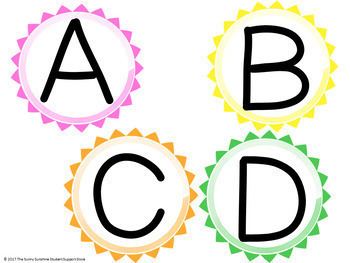 Welcome Back, Letters, Numbers and Symbols Bulletin Board Set Classroom Decor