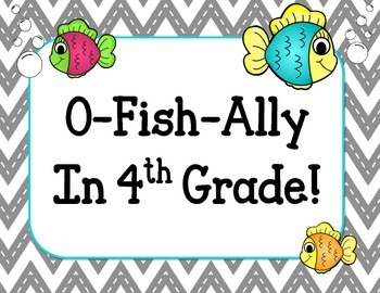 Welcome Back Bulletin Board Set. Fish K4 K5 1st 2nd 3rd 4th 5th 6th