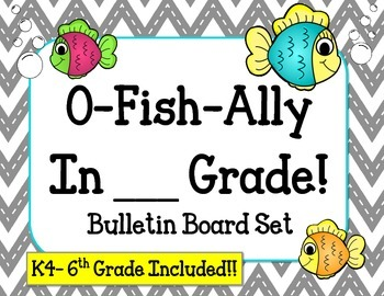 Welcome Back Bulletin Board Set. Fish K4 K5 1st 2nd 3rd 4t