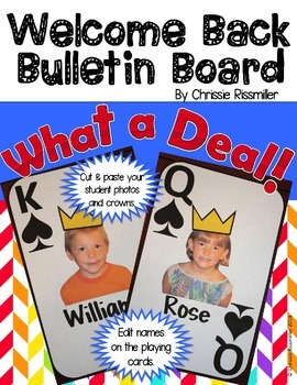 Welcome Back Bulletin Board: What a Deal! Playing Cards