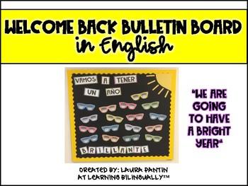 Welcome Back Bulletin Board in ENGLISH