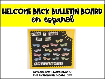 Welcome Back Bulletin Board in Spanish