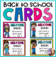 Back to School- Welcome Back Editable Cards