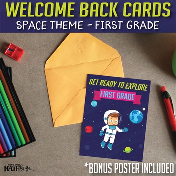 Welcome Back Cards: Space Theme-First Grade