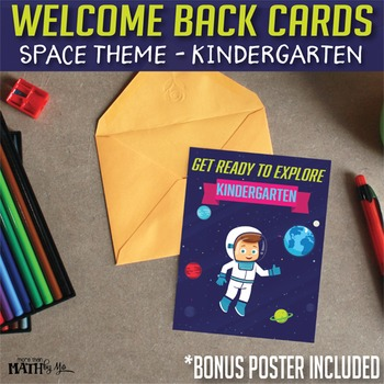 Welcome Back Cards: Space Theme-Kindergarten