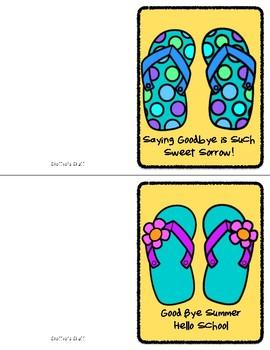 Here Comes Summer Flip Flop Cards