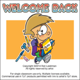 Welcome Back to School Cartoon Clipart Sampler