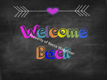 Welcome Back Chalkboard Sign and Pennant