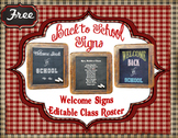 Welcome Back Chalkboard Signs
