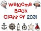 "Welcome Back ""Class of"" Signs Nautical Theme PK- 5th Grade Options"