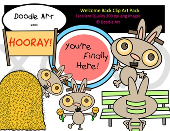 Welcome Back Clipart Pack