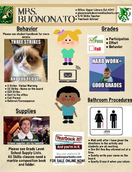 Classroom Rules & Procedures (Custom Infographic)