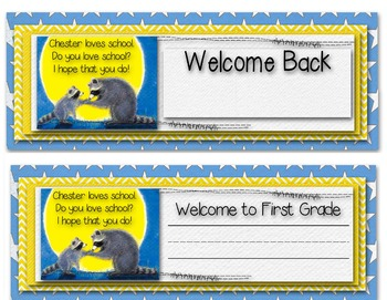 Welcome Back Desk Name Tags - Kissing Hand - 2 vesions