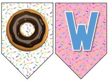 Welcome Back! Donut Banner