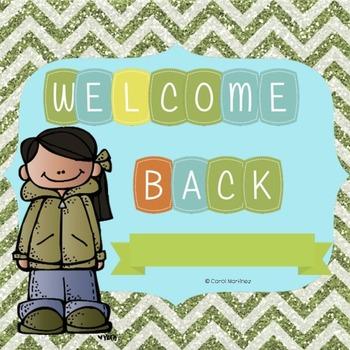 Welcome Back Door Sign
