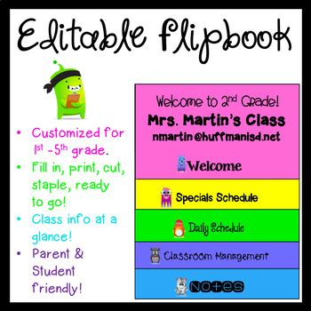Welcome Back FlipBook! FULLY EDITABLE