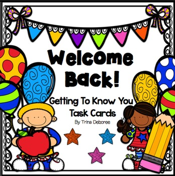 Welcome Back Cards Worksheets & Teaching Resources | TpT