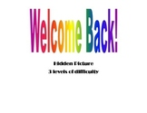 Welcome Back! Hidden Picure