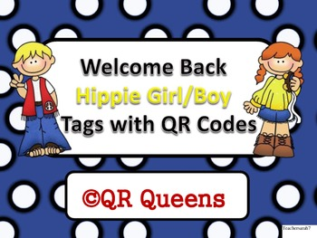 Welcome Back Groovy Girl/Boy Tags with QR Codes
