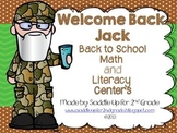 Welcome Back Jack: Back to School Math and Literacy Centers