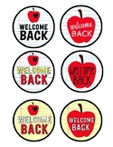Welcome Back Large Favor Round tags - Digital Fun Printable