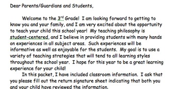 Welcome Back Letter Example **Editable**