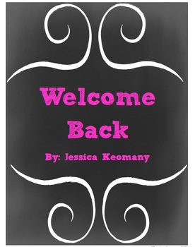 Welcome Back Literacy Packet