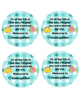 Welcome Back tags / Meet the Teacher Tags with Fish - Ocean Theme Gifts