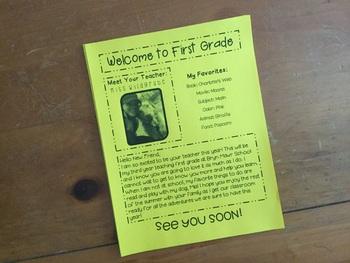 Welcome Back/Meet The Teacher Editable Letter